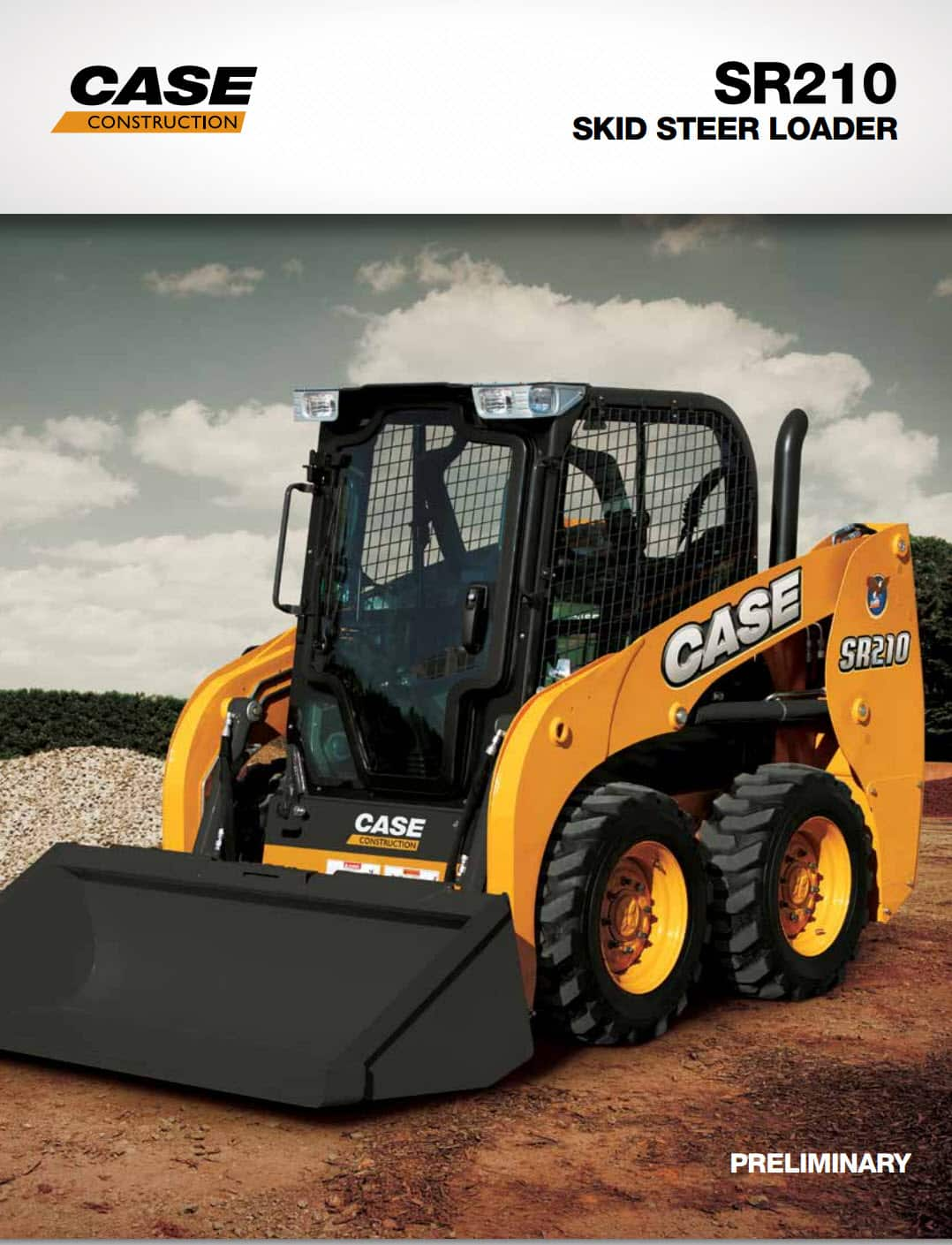 Case SR210 Skid Steer Wheeled Loader