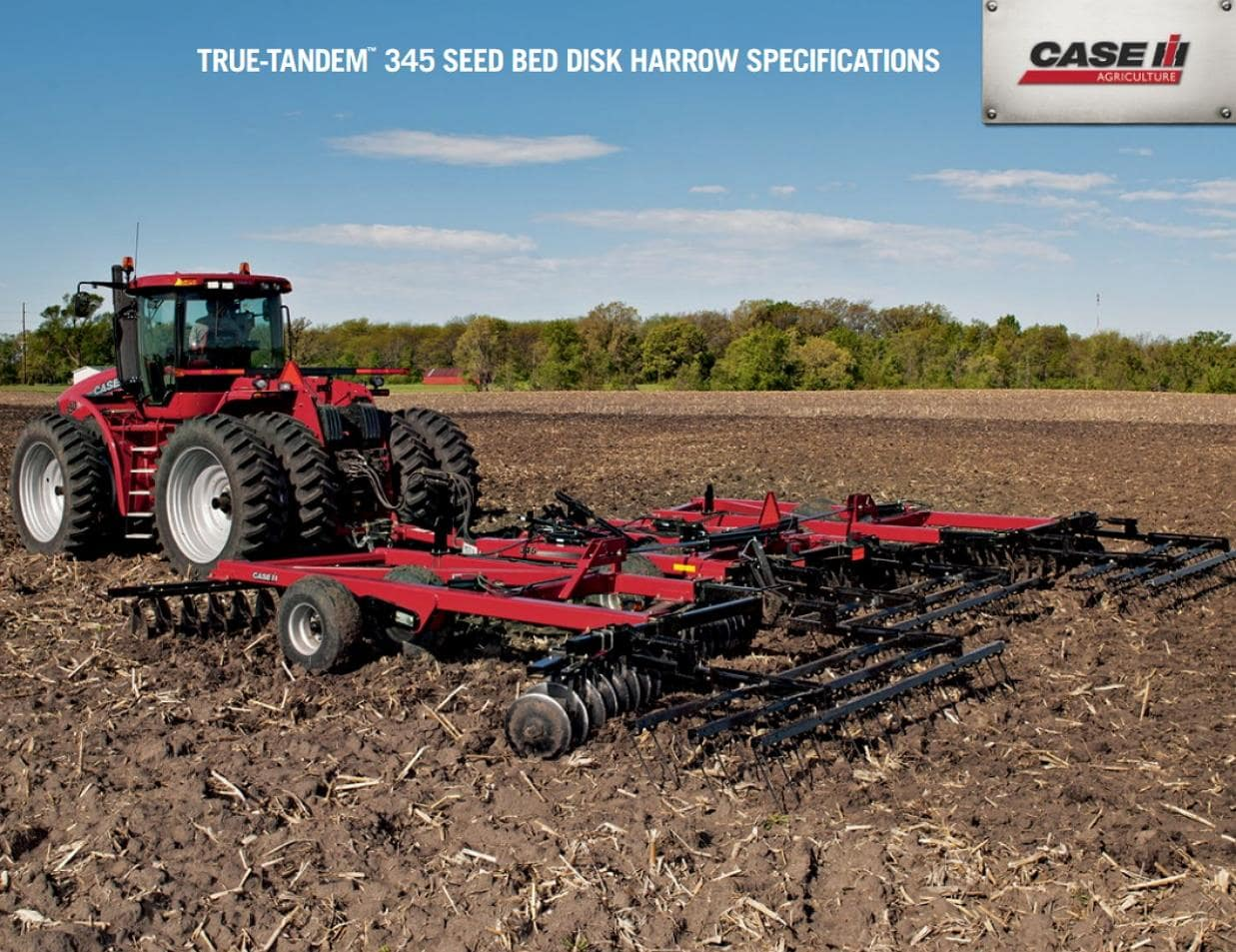 True-Tandem 345 Seed Bed Disk Harrow