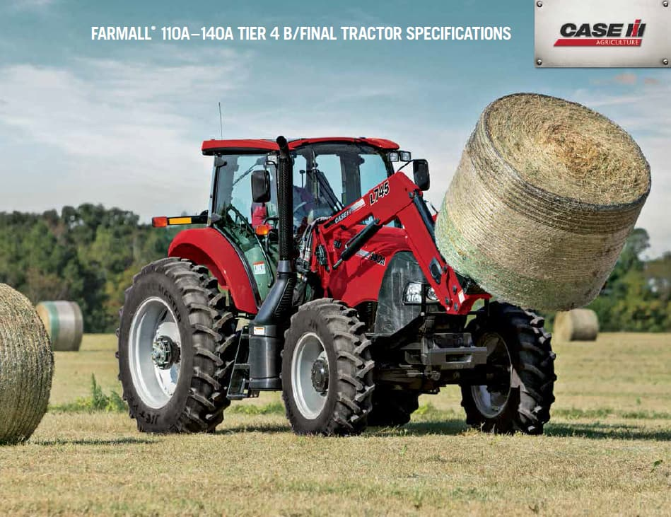 Farmall 110A-140A Tier 4B/Final Spec Sheet