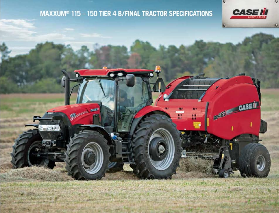 Maxxum115-150 Tier 4B Spec Sheet