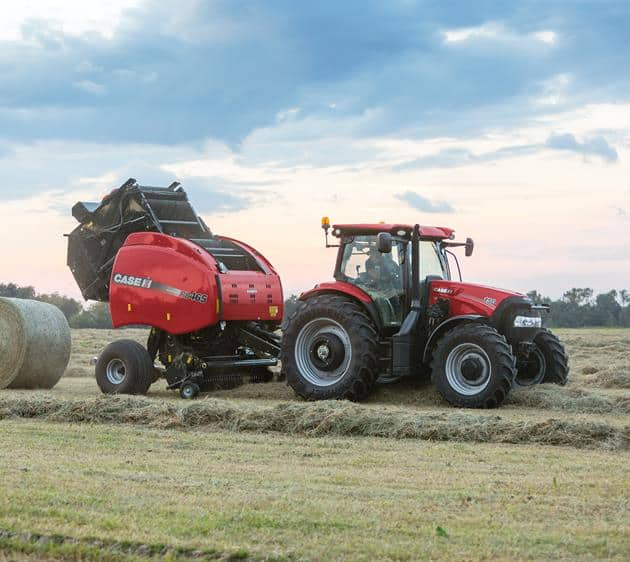 Maxxum 150 with RB 465 Baler