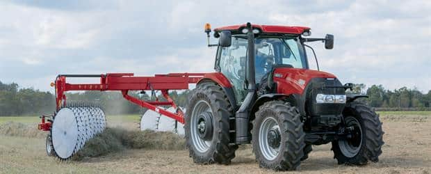Maxxum 150 with WR401 Wheel Rake