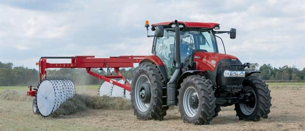 Maxxum 150 with WR 401 Wheel Rake