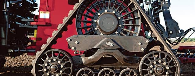 Exclusive factory-integrated 5 axle Rowtrac design offers more power to the ground, especially in adverse field conditions