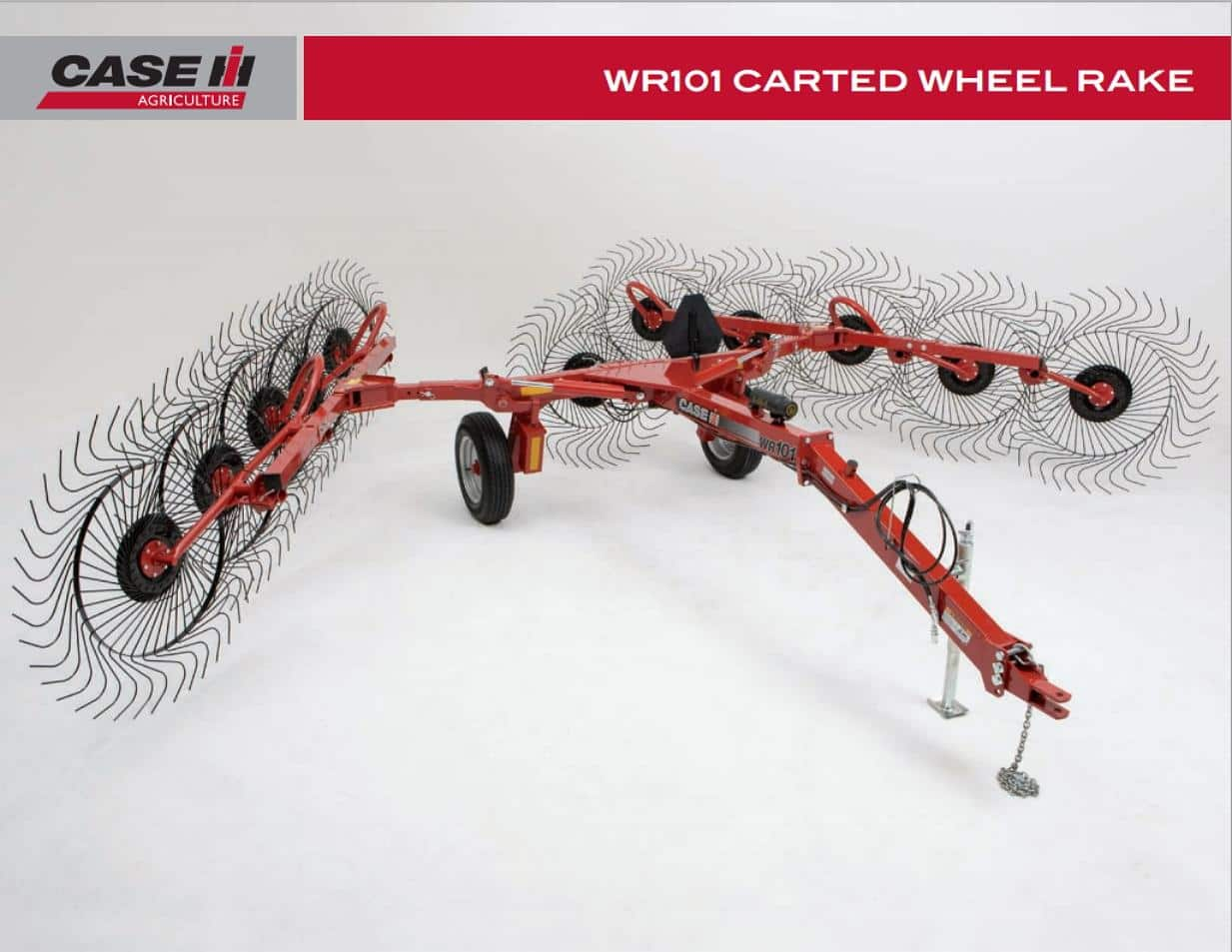 WR101 Carted Wheel Rake Spec Sheet
