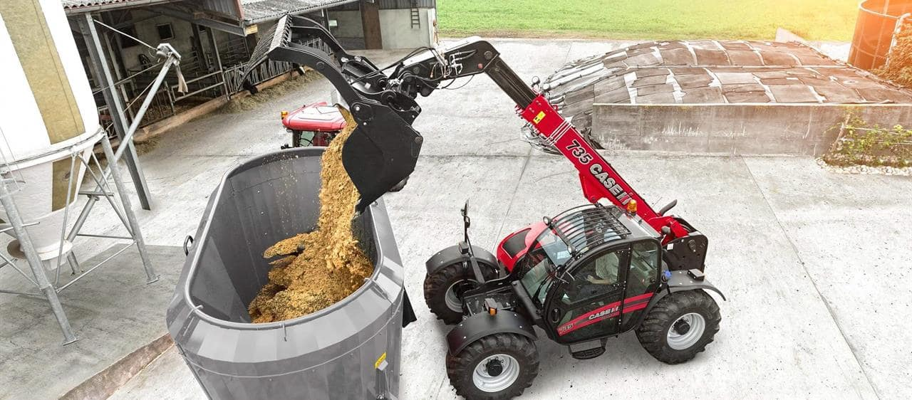 Transmission and hydraulic revisions for 120hp Case IH Farmlift models improve driveline performance