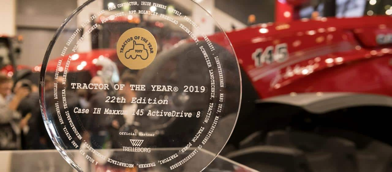 Il Maxxum 145 Multicontroller di Case IH è stato insignito del titolo di Tractor of the year e Best Design per il 2019