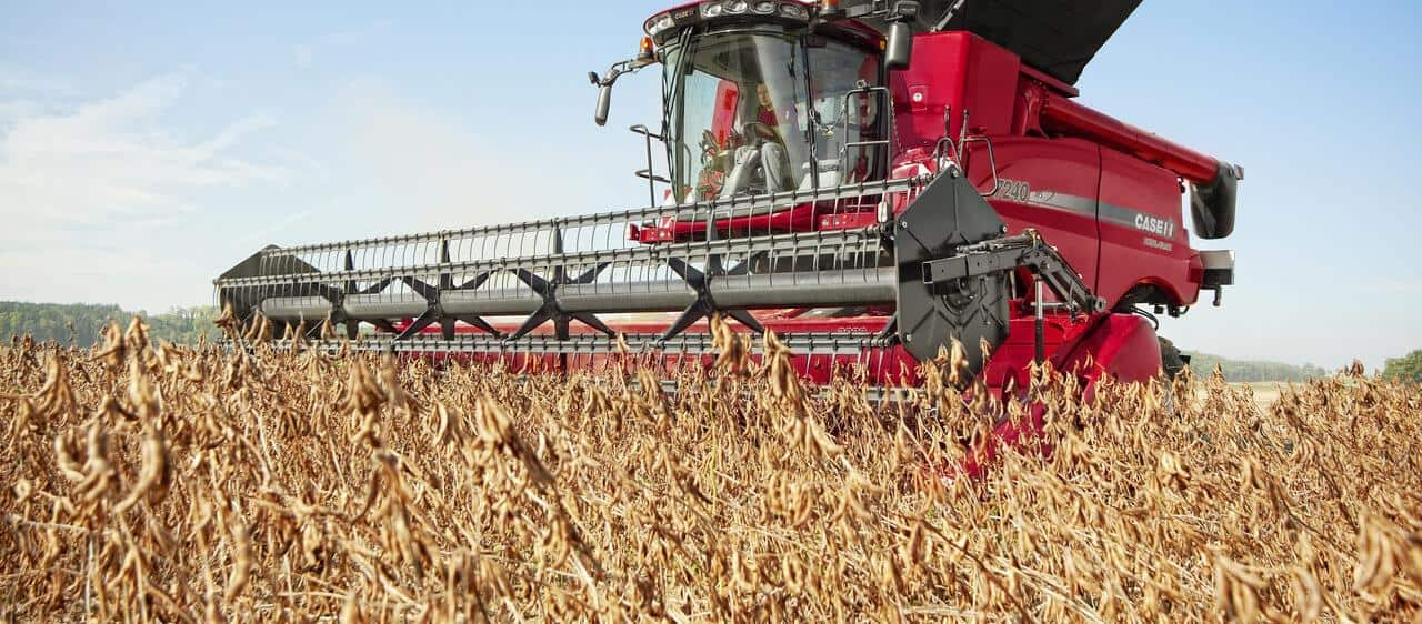 Case IH Axial-Flow Combine Harvester delivers convincing performance threshing soya