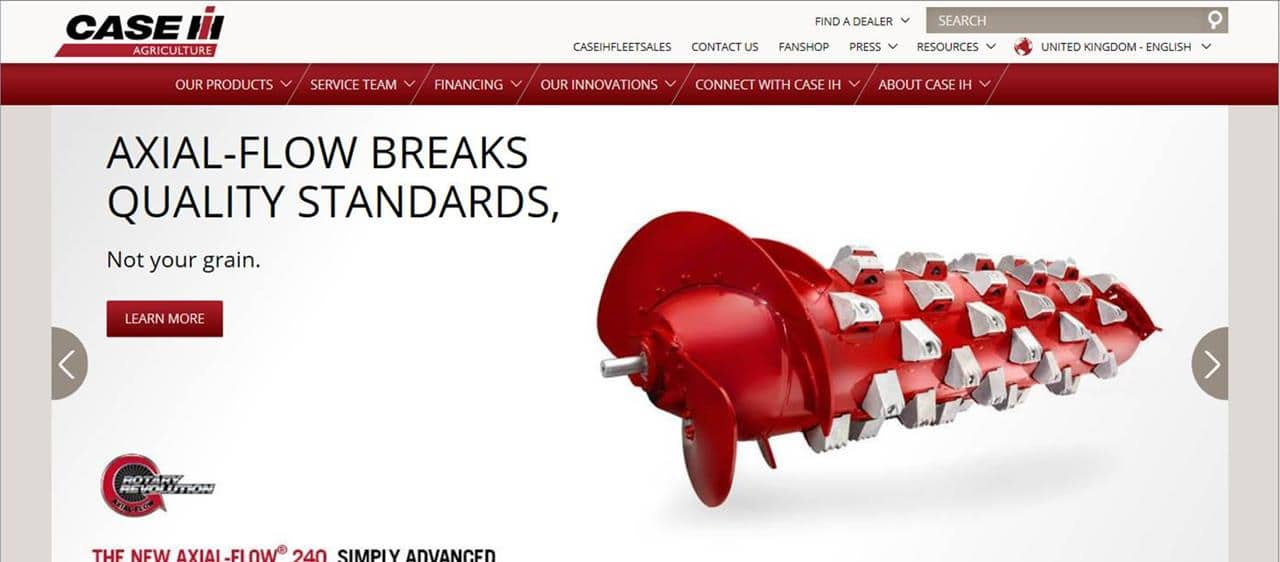 Case IH website redesigned for maximum customer comfort