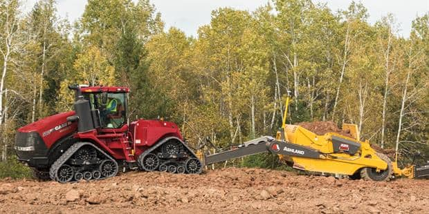 Steiger Tractors with Scrapers