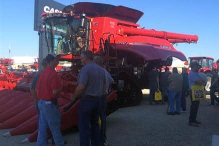 Case IH 9240 Axial-Flow Combine with Corn Head - Farm Science Review 2015