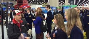 Handing out Steiger Keychains at the 2015 National FFA Expo