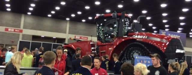 Busy Case IH booth at the 2015 National FFA Expo