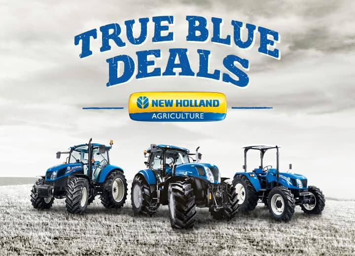 ON SELECTED T-SERIES TRACTORS FROM NEW HOLLAND