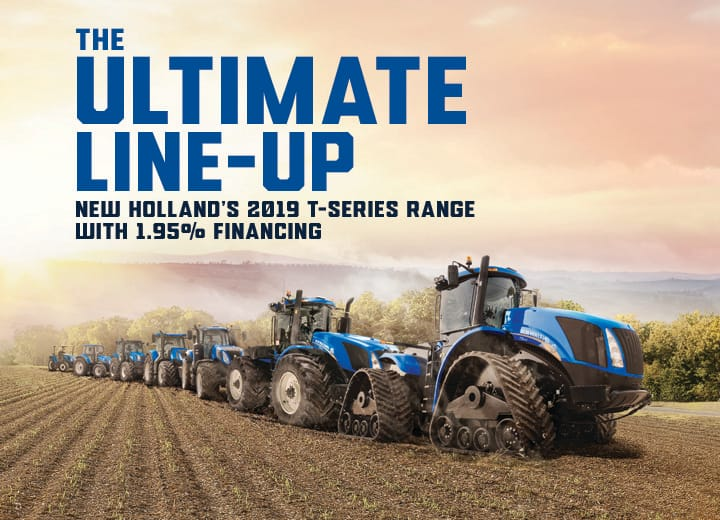 The Ultimate Line Up, New Hollands T Series Range with 1.95%* Finance