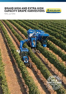 BRAUD High and Extra High Capacity Grape Harvesters - Brochure