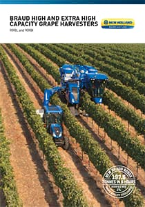 BRAUD High and Extra Capacity Grape Harvesters - Brochure