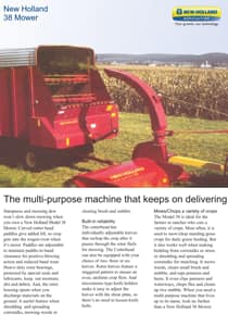Crop Chopper Flail Harvester - Brochure