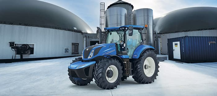 New Holland unveils the world's first production T6 Methane Power Tractor at Agritechnica 2019