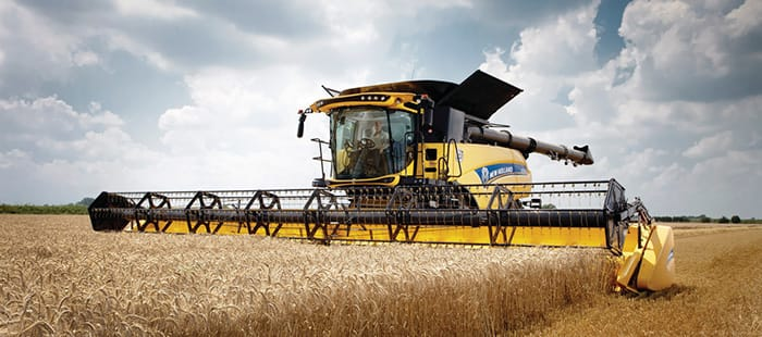 The world's highest capacity combine. Fact.