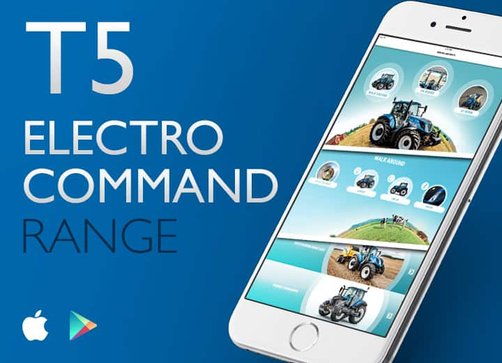 App Gamme T5 Electro Command New Holland Agriculture