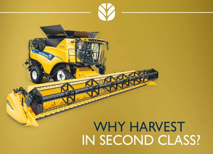 New Holland can upgrade you to first!
