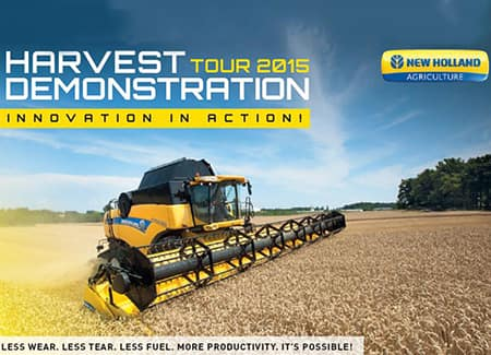 Harvest Demonstration Tour 2015 – <br/>Innovation in action