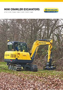 Mini Crawler Excavators - Brochure