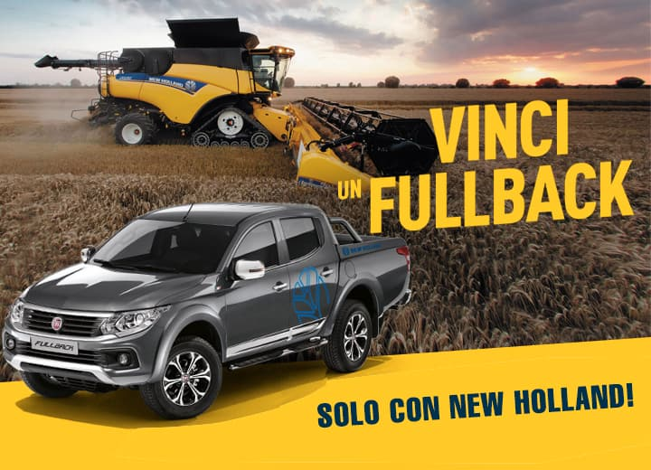 Vinci un Fullback solo con New Holland!