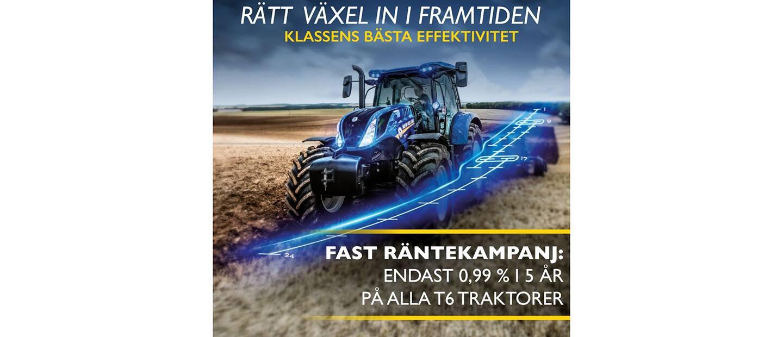 FAST RÄNTEKAMPANJ PÅ T6 TRAKTORER