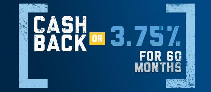Cash Back OR 3.75% for 60