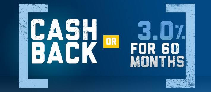 Cash Back OR 3.0% for 60
