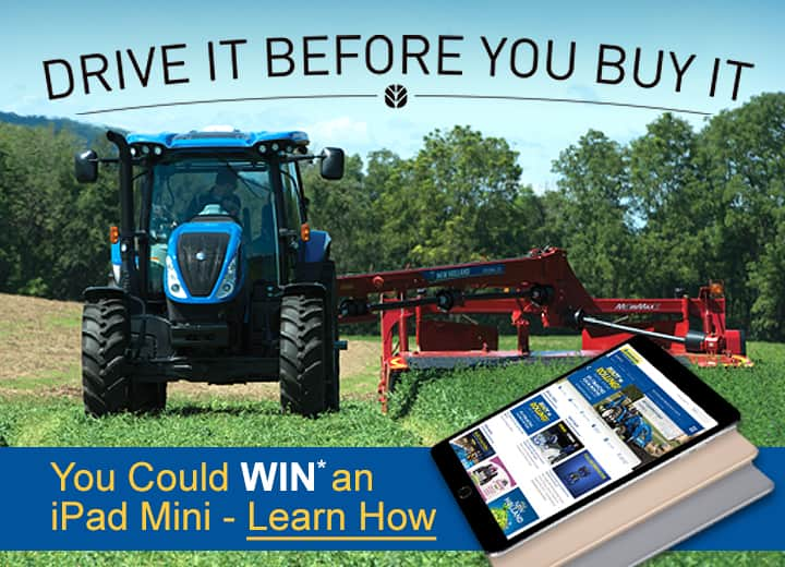 Get into the field with the latest New Holland equipment