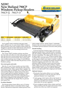 Windrow Pickup Heads - Brochure