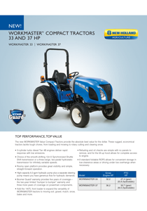 Workmaster™ Compact - Tier 4B - Brochure